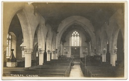Thorpe-le-Soken Church Interior - Geo Woodward Real Photo C1930 - England