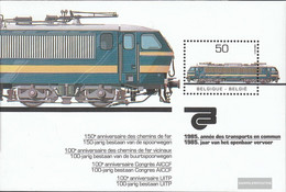 Belgium Block55 (complete Issue) Unmounted Mint / Never Hinged 1985 Electric Locomotive - Blocks & Sheetlets 1962-....