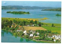 HURDEN SZ Freienbach Flugaufnahme Insel Ufenau Zürichsee - SZ Schwyz
