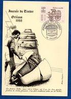 Carte / Journée Du Timbre / Fonderie / Voiture Montée / Orléans / 12Mars 1988 - Maximum Cards