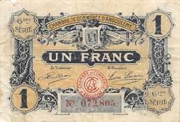 .D.18-2210 : CHAMBRE DU COMMERCE 1 FRANC. ANGOULEME. CHARENTE. - Chambre De Commerce