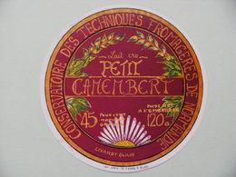 Etiquette Petit Camembert - C.T.F.N - Fromagerie De Livarot 14 - Normandie  A Voir ! - Cheese