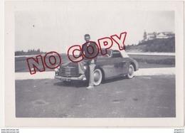 Au Plus Rapide Simca Sport 1950 Photo Prise à Lisbonne Sept 1952 Beau Format - Cars