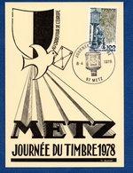 Carte / Journée Du Timbre / Metz / 8 Avril  1978 - Cartoline Maximum
