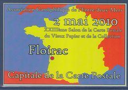 = XXIIIè Salon De La Carte Postale Du Vieux Papier Et De La Collection, 2 Mai 2010 Floirac Gironde - Sammlerbörsen & Sammlerausstellungen