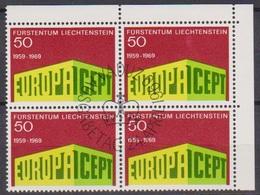 Lichtenstein 1968 MiNr.507 4er Blocko Gest. Europa ( 1750 )günstige Versandkosten - Liechtenstein
