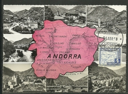 ANDORRA CORREO ESPAÑOL  CARTA MAXIMA (L.C.P.Nº1 - Andorra Española