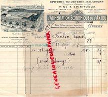 49 - ANGERS- LA FLECHE- SAUMUR- CHATEAUGONTIER- FACTURE ALIMENTATION ECONOMIQUE DE L' ANJOU- EPICERIE DROGUERIE - 1922 - Droguerie & Parfumerie