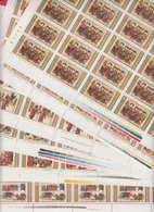 2P2 / SHEET 5 X 5 = 25 - 1982 Bulgaria 1969 Manasses Chronicle ** MNH TSAR SIMEON IN CONSTANTINOPLE TURKEY - Blocs-feuillets