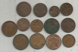 Monnaie, LOT DE 13 MONNAIES, 2 Scans , Frais Fr 2..95 E - Vrac - Monnaies