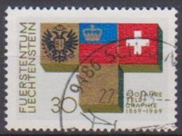 Lichtenstein 1968 MiNr.517 O Gest. 100 Jahre Telegrafie In Lichtenstein ( 1759 )günstige Versandkosten - Liechtenstein