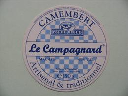 Etiquette Petit Camembert - Le Campagnard - Fromagerie Vache Bleue Export - Belgique  A Voir ! - Cheese