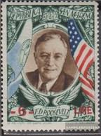 San Marino 375 Postfrisch 1947 Franklin Roosevelt - Aufdruck - San Marino
