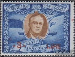 San Marino 373 Postfrisch 1947 Franklin Roosevelt - Aufdruck - San Marino
