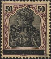 Saar 13x II With Hinge 1920 Germania - 1920-35 League Of Nations