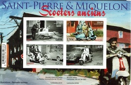 Saint Pierre And Miquelon, Old Motor Scooters, 2018, MNH VF Nice Souvenir Sheet - Unused Stamps