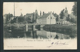 MERBES - LE - CHATEAU.  Le Pont. Péniche. - Merbes-le-Château