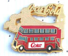 Pin's GRAND PINS COCA COLA COKE BUS LONDON VARIETE VOIR LES VITRES - Coca-Cola
