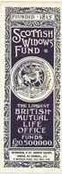 ENGLAND : SCOTTISH WIDOWS ' FUND : MARQUE - PAGE , SIGNET - Bookmarks