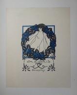Ex-libris Illustré XXème - Belgique - Femme Nue, Guirlande De Fleurs Par TILMANS - Bookplates