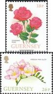 GB - Guernsey 727-728 (completa Edizione) MNH 1997 Fiori - Guernesey