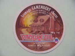 Etiquette Camembert - Le Vaudreuil - Fromagerie Anonyme Export - Royaume-Uni  A Voir ! - Cheese