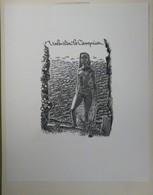 Ex-libris Illustré XXème - Femme-sirène Nue - Valentin Le Campion Par SEVERIN - Bookplates