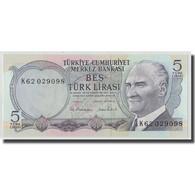 Billet, Turquie, 5 Lira, L.1970, 1970-01-14, KM:185, NEUF - Turquie