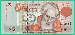 5  Pesos - Uruguy - 1998 - Type Florès - N° 10208636 Série A -  Neuf - - Uruguay