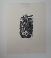 Ex-libris Illustré XXème - Femme-sirène Nue - P. JANSSENS. Par SEVERIN - Bookplates