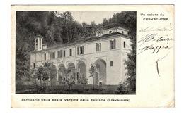 ITALIE - Piemonte, CREVACUORE Santuario Della Beata Vergine Della Fontana - Other Cities
