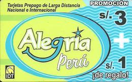 Prepaid: IDT Alegria Perú - Peru