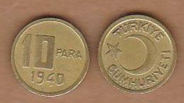 AC - TURKEY 10 PARA 1940 BRASS KM# 868 UNCIRCULATED - Türkei