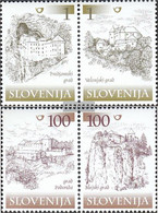 Slovenia 298-301 Couples (complete.issue.) Unmounted Mint / Never Hinged 2000 Fortresses And Castles - Slovenia