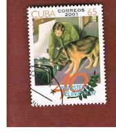 CUBA -  MI  4358  -  2001   MINISTRY OF INTERIOR      - USED - Cuba