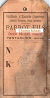 Etiquette D'ABSINTHE -  PARROT Fils Successeur CHARLES BOISSON Distillerie Absinthe Pontarlier 25  -  Scans Recto-verso - Alimentaire
