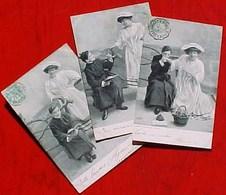 Suite De 3 Cpa JEUNE ABBE Et FEMME TENTATRICE , CURE , PRETRE , SEDUCTION , 1905 ANTI CLERICAL ? ALTEROCCA TERNI - Couples
