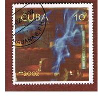 CUBA -  MI  4408  -  2002  CIGARS PRODUCTION: CLOCK & COGAR CLYNDER     - USED - Cuba