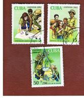 CUBA -  MI  4414.4416 -  2002   EXPLORERS      - USED - Cuba