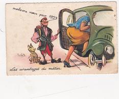 CPSM Grivoise Avantages Du Métier Chauffeur Taxi Pin-up Fesses Rebondies Personnage Arabe P. NERI - Other Illustrators