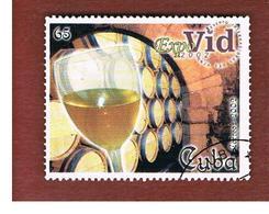 CUBA -  MI  4435 -  2002  EXPOVID: WINE    - USED - Cuba