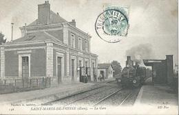 27 CPA SAINT MARDS DE FRESNE Arrivée Du Train En Gare - Sonstige Gemeinden