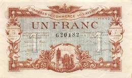 .D.18-2251 : CHAMBRE DU COMMERCE 1 FRANC. AVEYRON. RODEZ. - Chambre De Commerce