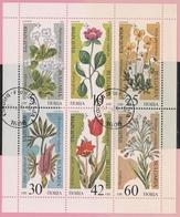 Bulgaria Bloc Fleurs 1989 - Blumen Flower - Portugal Madère - Tulipe Tulipa - Bulgarie Bulgarien - Flora