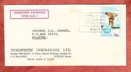 Brief, EF Radar, Nairobi 1984 (57752) - Kenia (1963-...)
