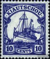 Kiaochow (China) 31 With Hinge 1909 Ship Imperial Yacht Hohenzollern - Colony: Kiauchau