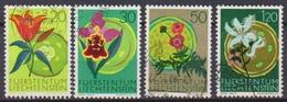 Lichtenstein 1970 MiNr.521 - 524 O Gest. Blumen Aus Lichtenstein ( 2153 )günstige Versandkosten - Liechtenstein