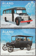 Finland - Aland 365-366 (complete Issue) Unmounted Mint / Never Hinged 2012 Historical Buses - Aland