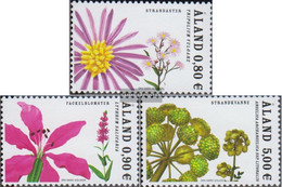 Finland - Aland 274-276 (complete.issue.) Unmounted Mint / Never Hinged 2007 Clear Brands: Strandblumen - Aland