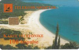 ALBANIA - Beach, Albtelecom Telecard 100 Units, Tirage 90000, 03/99, Used - Albania